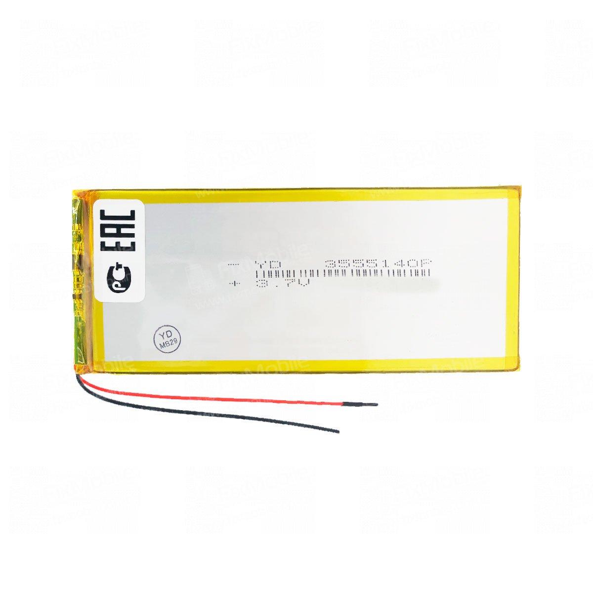 Аккумуляторная батарея универсальная 3555140p 3,7V 3200 mAh (3.5*55*140 мм)
