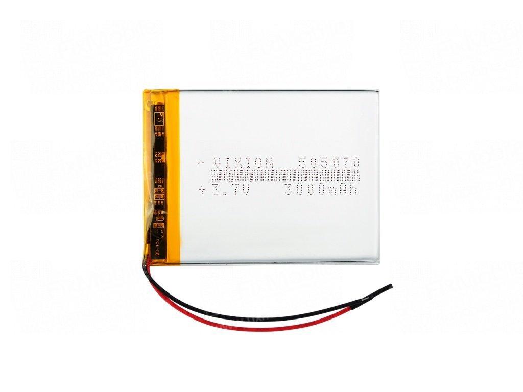 Аккумуляторная батарея универсальная 505070p 3,7V 2500 mAh (5*50*70 мм)