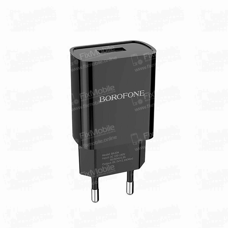 Сетевое зарядное устройство Borofone BA20A Sharp USB (черное)