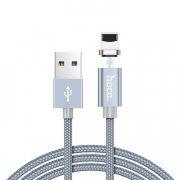 Кабель HOCO U40A магнитный для Apple (USB - Lightning) серый — 1